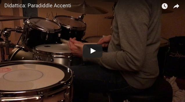 Esercizio sul paradiddle singolo e accenti