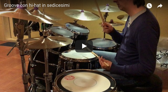 Groove con hi-hat in sedicesimi HD video