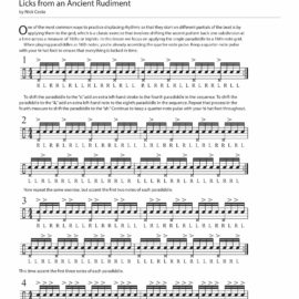 Displaced Paradiddles